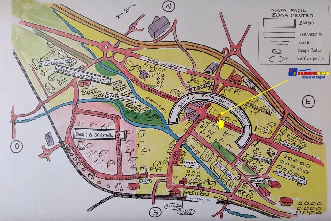 Mapa de ubicación de la Academia de inglés Bilingual Brain, en Collado Villalba