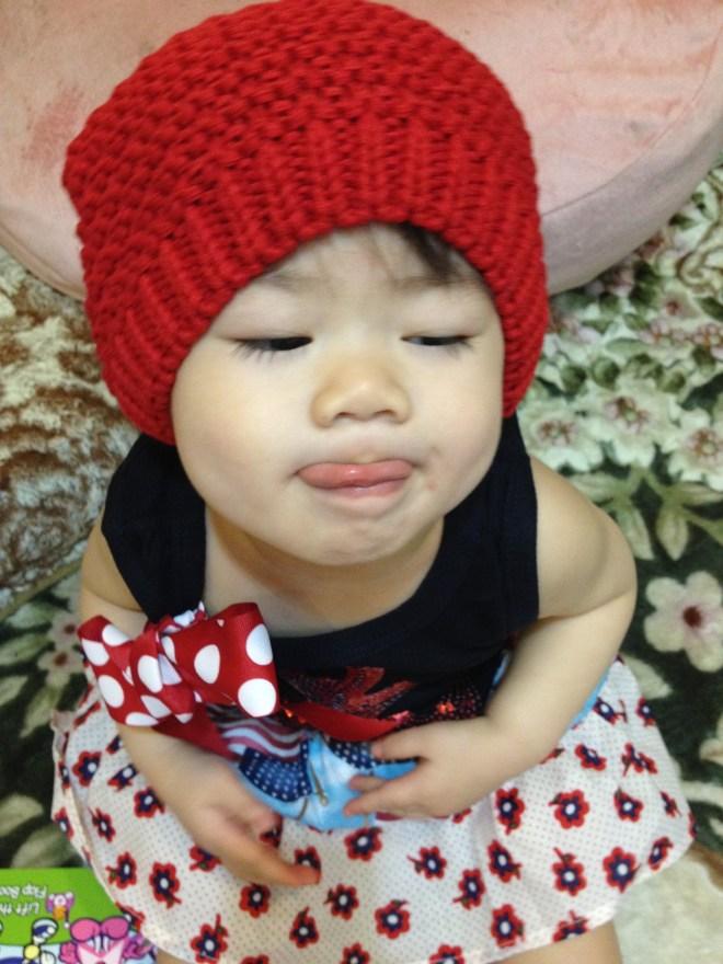 紅色帽子是