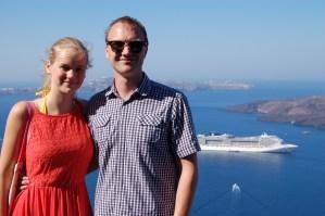 Cruise i Middelhavet: Santorini