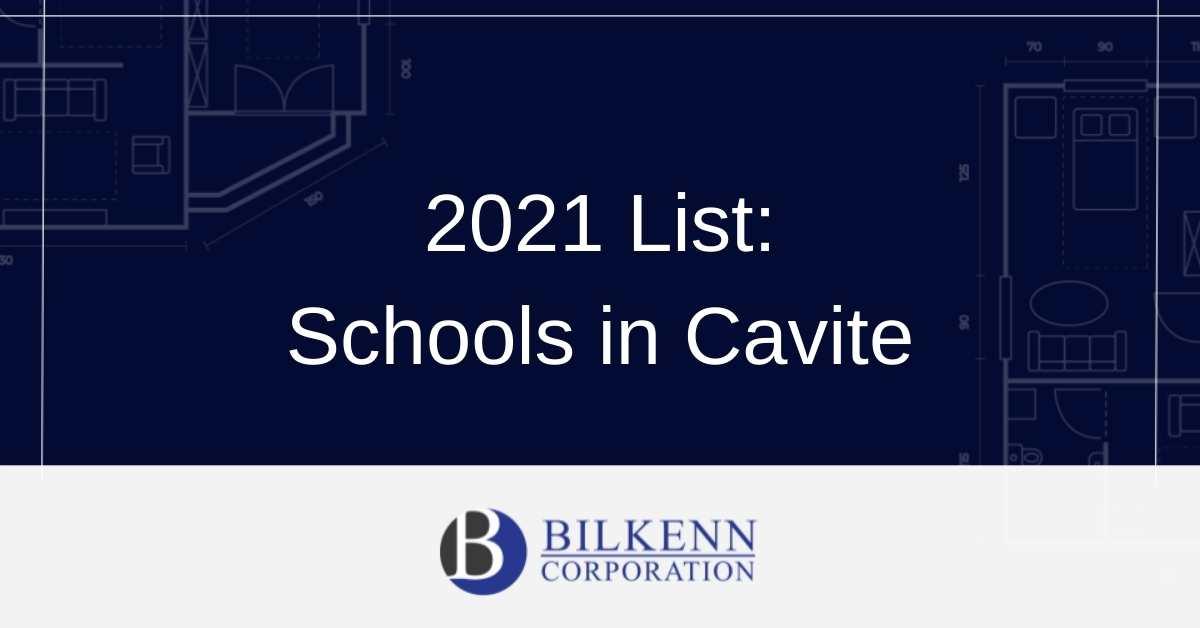 2021 List of Schools in Cavite
