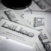 Bill Lee Photographer Business card tests