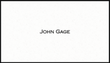 John Gage's business card (Indecent Proposal)