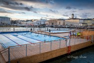 Swimming in Winter - check out the life guards