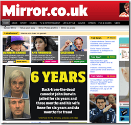 Daily Mirror web site