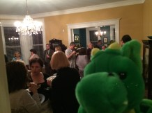 Windsor snags a dragon selfie at the pre-conference party.