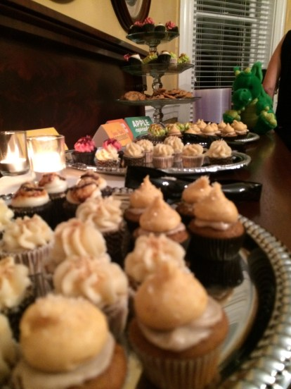 Most of these cupcakes did not survive Windsor's arrival.