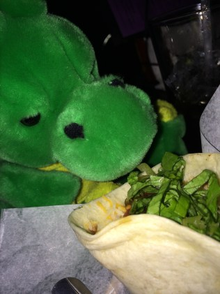Windsor eats a late night taco after the pre-conference party.