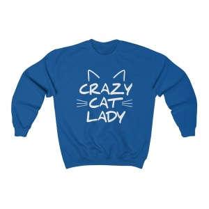 Crazy Cat Lady Sweatshirt Blue