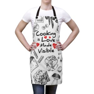 Cooking with love visible apron