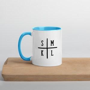 Initials Coffee Mug - Blue Inside