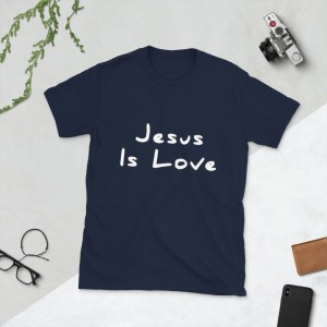 Jesus is Love Dark Blue T-Shirt