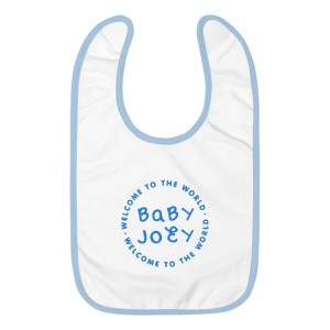Custom Embroidered Baby Bib - Blue