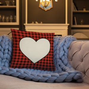 Heart Plaid Pillow