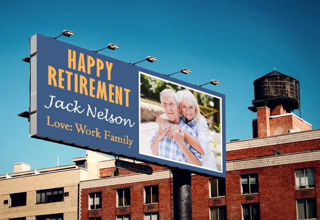 Retirement Billboard