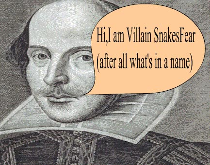 Who Wants A Playwright Named Snakesfear?