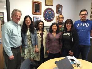 L-R: Bill, Menglei Cheng, Chenzi Su, Prof Cheng, Whisnu Triwibowo, Ruth Shillair, and Thomas Potron