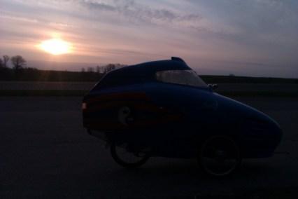 Morgensol på vej til Århus