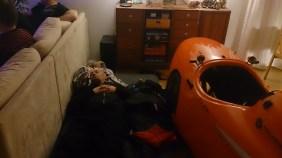 Ole og Strada sover