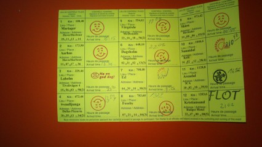 SBS 2013 Udfyldt stempelkort