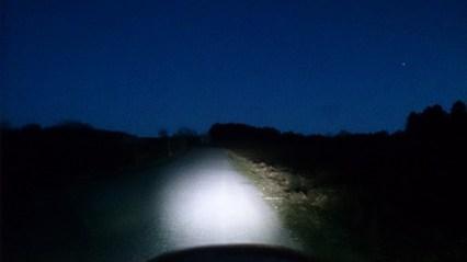 Strada hill by night