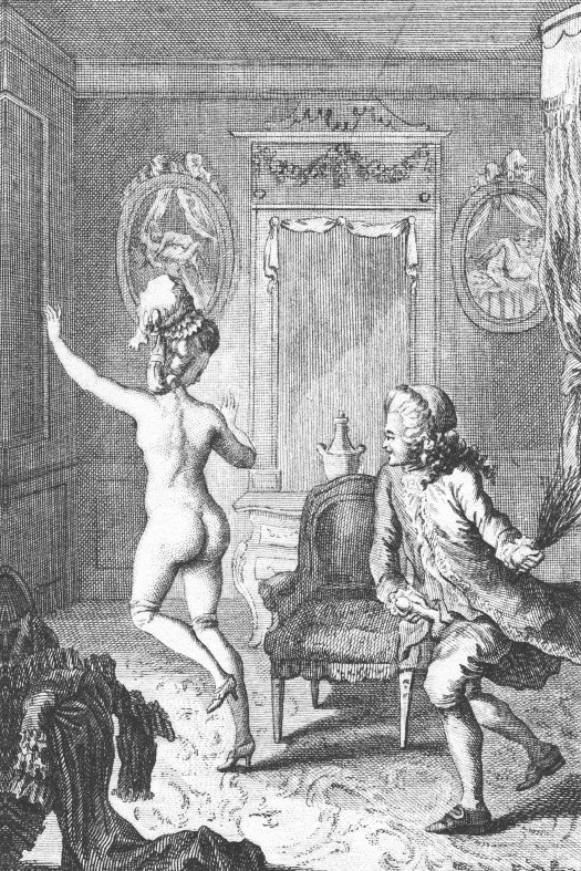 Gallery of images depicting erotic flogging
