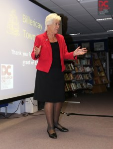 Essex County Councillor Kay Twitchen. ECC provided us with £3,250 of funding through their Community Initiatives Fund