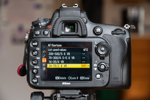 Nikon cameras recognize Nikkor lenses and many third party lenses, and are able store AF fine-tune settings for up to 12 different lenses. (Bill Ferris)