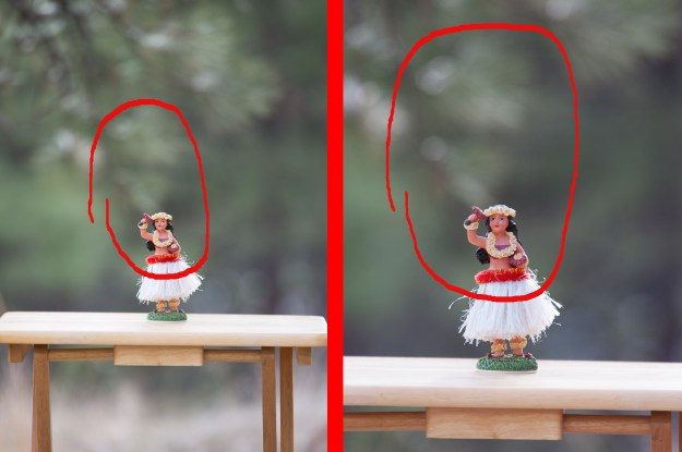 The photo to the left of the divider was made with the Nikon D610 and Tamron 70-200mm f/2.8 VC at 200mm, f/2.8, ISO 400, 1/400-second. The photo on the right was made with the same lens at the same distance from subject also at 200mm, f/2.8, ISO 400, 1/400-second. (Bill Ferris)
