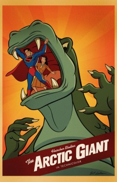 Superman Cartoon Poster