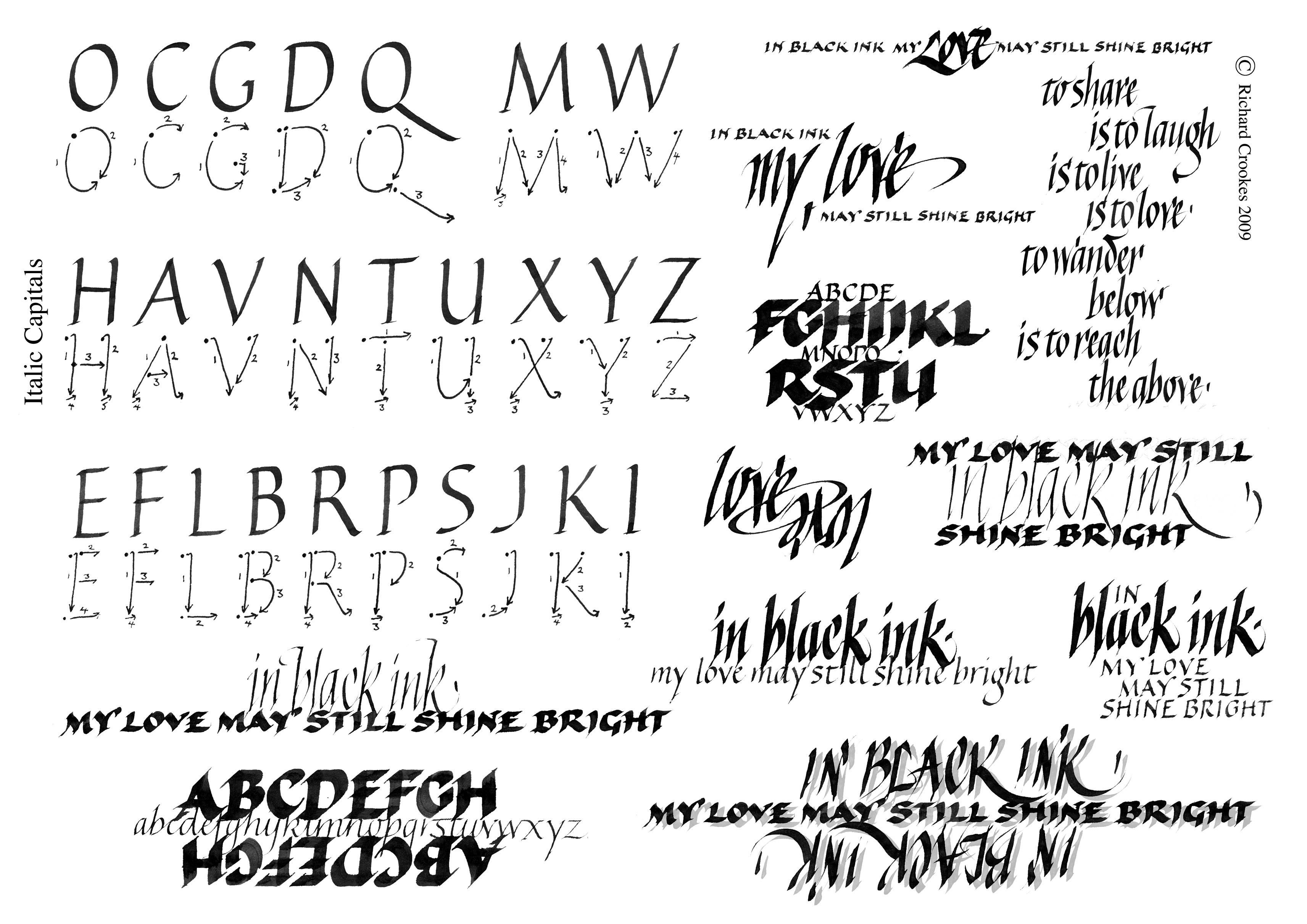 Italic Capitals Copy