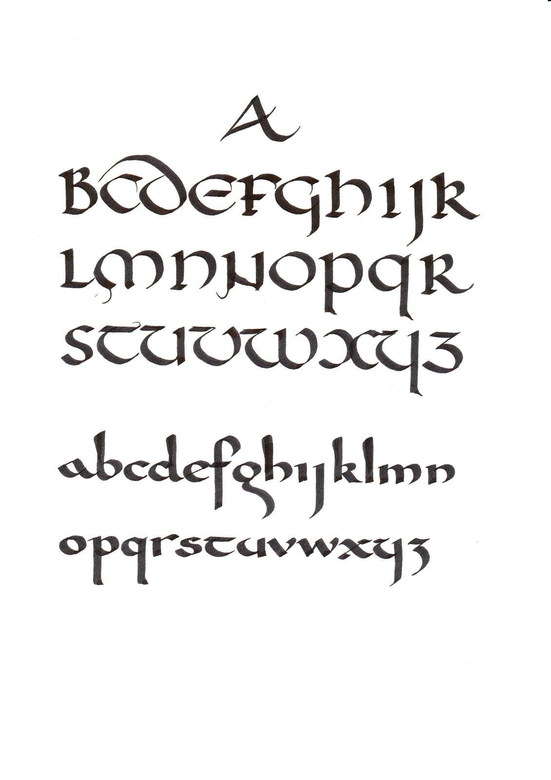 Uncial Top And Carolingian