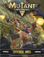 Mutant Chronicles Universal Index (Mutant Chronicles 3e)