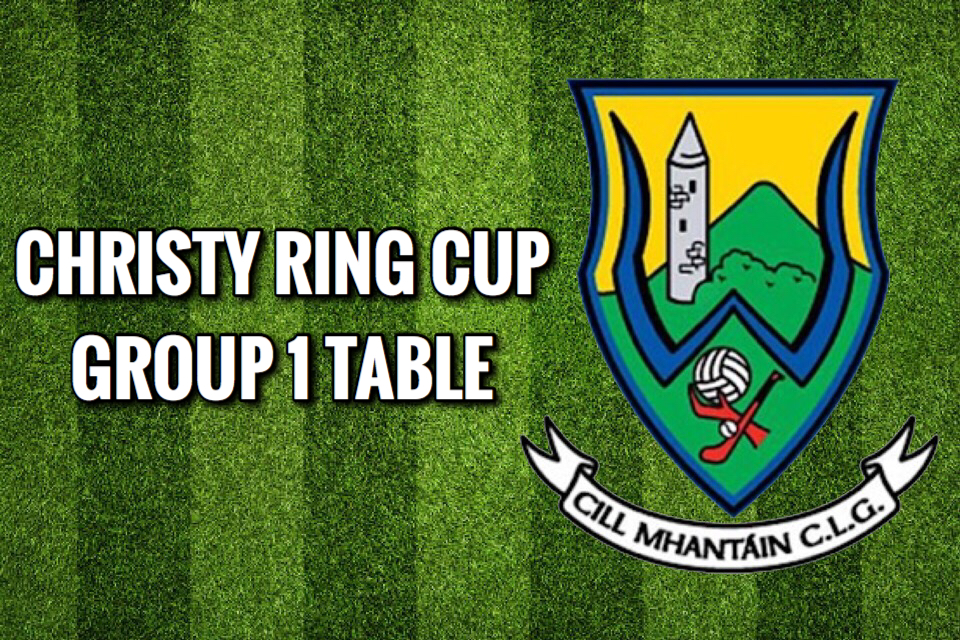 Christy Ring Group 1 Table