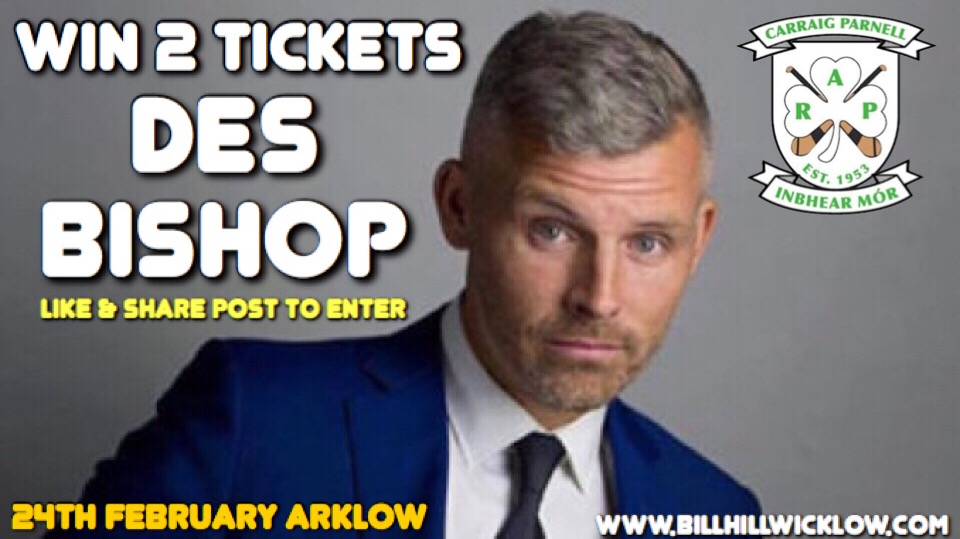 Win 2 Tickets To Des Bishop