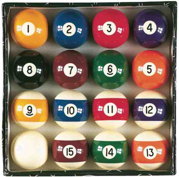 Viper Billiard Master Billiard Pool Balls, Complete 16 Ball Set