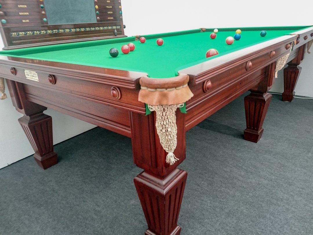 Antique Bespoke Billiards Snooker Pool Sir William Bentley Billiards