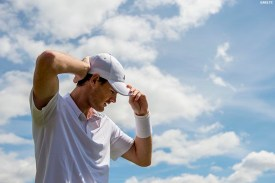 """""""Jamie Murray adjusts his hat before a doubles match at the All England Lawn and Tennis Club in London, England Tuesday, June 24, 2014 during the 2014 Championships Wimbledon."""""""