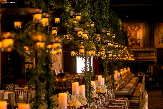 """""""The Tapestry Room is decorated for the 2015 Gardner Gala at the Isabella Stewart Gardner Museum in Boston, Massachusetts Saturday, May 2, 2015."""""""