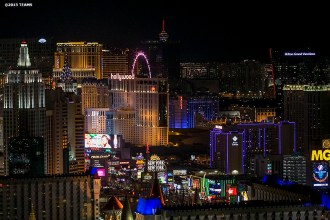 """""""The Las Vegas skyline is shown during the TEAMS Conference & Expo Las Vegas, Nevada Wednesday, November 11, 2015."""""""