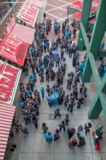 """Merrimack Pharmaceuticals hosts a company event at Fenway Park in Boston, Massachusetts Thursday, October 22, 2015."""