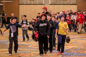 """""""Kids participate in a baseball clinic at the 2016 Winter Weekend at Foxwoods Resort & Casino in Ledyard, Connecticut Sunday, January 24, 2016."""""""