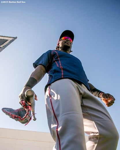 FT. MYERS, FL - FEBRUARY 27: Hanley Ramirez #13 of the Boston Red Sox walks toward the field during a team workout on February 27, 2016 at Fenway South in Fort Myers, Florida . (Photo by Billie Weiss/Boston Red Sox/Getty Images) *** Local Caption *** Hanley Ramirez