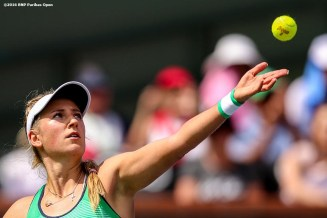 """""""Victoria Azarenka in action against Serena Williams in the women's finals match during the 2016 BNP Paribas Open at the Indian Wells Tennis Garden in Indian Wells, California Sunday, March 20, 2016."""""""