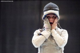 """""""Competition is held during the 2016 NCAA Fencing Championships at Brandeis University in Waltham, Massachusetts Friday, March 25, 2016."""""""