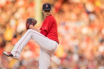 BOSTON, MA - MAY 20: Clay Buchholz #11 of the Boston Red Sox delivers during the first inning of a game against the Cleveland Indians on May 20, 2016 at Fenway Park in Boston, Massachusetts. (Photo by Billie Weiss/Boston Red Sox/Getty Images) *** Local Caption *** Clay Buchholz