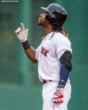 BOSTON, MA - JUNE 5: Hanley Ramirez #13 of the Boston Red Sox reacts after hitting an RBI double during the ninth inning of a game against the Toronto Blue Jays on June 5, 2016 at Fenway Park in Boston, Massachusetts. (Photo by Billie Weiss/Boston Red Sox/Getty Images) *** Local Caption *** Hanley Ramire