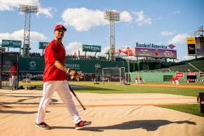 BOSTON, MA - JUNE 14: Mookie Betts #50 of the Boston Red Sox walks toward the dugout before a game against the Baltimore Orioles on June 14, 2016 at Fenway Park in Boston, Massachusetts. (Photo by Billie Weiss/Boston Red Sox/Getty Images) *** Local Caption *** Mookie Betts