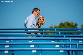 August 24, 2016, New Haven, Connecticut: Tournament Director Anne Worcester and Connecticut Governor Dannel Malloy tour the grounds during Day 6 of the 2016 Connecticut Open at the Yale University Tennis Center on Wednesday, August 24, 2016 in New Haven, Connecticut. (Photo by Billie Weiss/Connecticut Open)