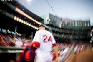 BOSTON, MA - SEPTEMBER 12: David Price #24of the Boston Red Sox walks into the dugout before a game against the Baltimore Orioles on September 12, 2016 at Fenway Park in Boston, Massachusetts. (Photo by Billie Weiss/Boston Red Sox/Getty Images) *** Local Caption *** David Price