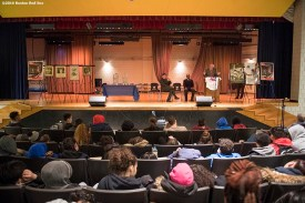 January 27, 2017, Boston, MA: Students attend a Jackie Robinson Day recognition event at Charlestown High School in Boston, Massachusetts Friday, January 27, 2017. (Photo by Billie Weiss/Boston Red Sox)